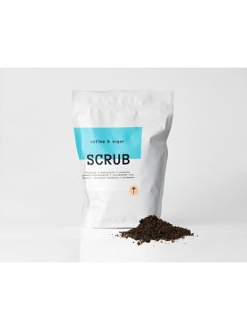 Natural coffe scrub
