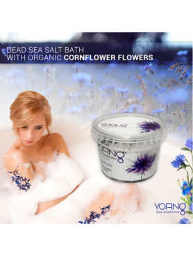 Dead sea salt with organic сornflower flowers