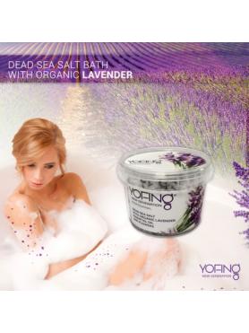 Dead sea salt with organic lavender