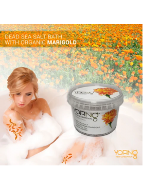 Dead sea salt with organic marigold