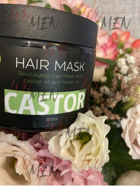 Revitalizing hair mask with castor oil and hemp oil